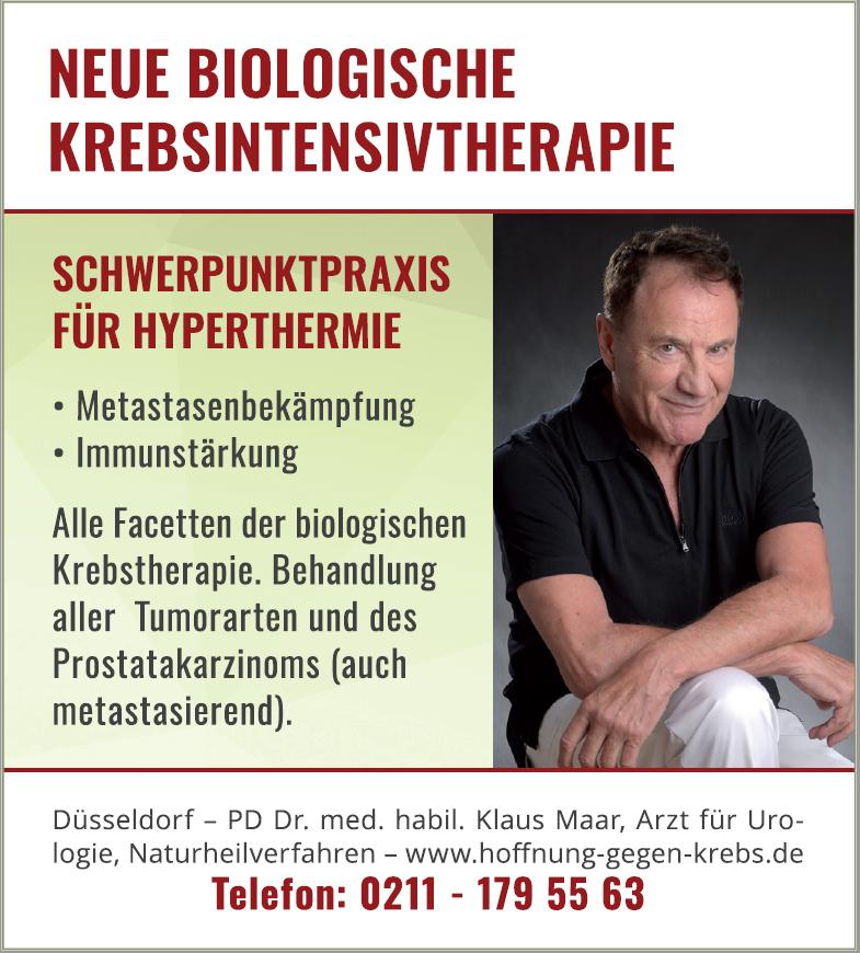 Anzeigenserie von Dr. Maar in DIE WELT (AM SONNTAG)