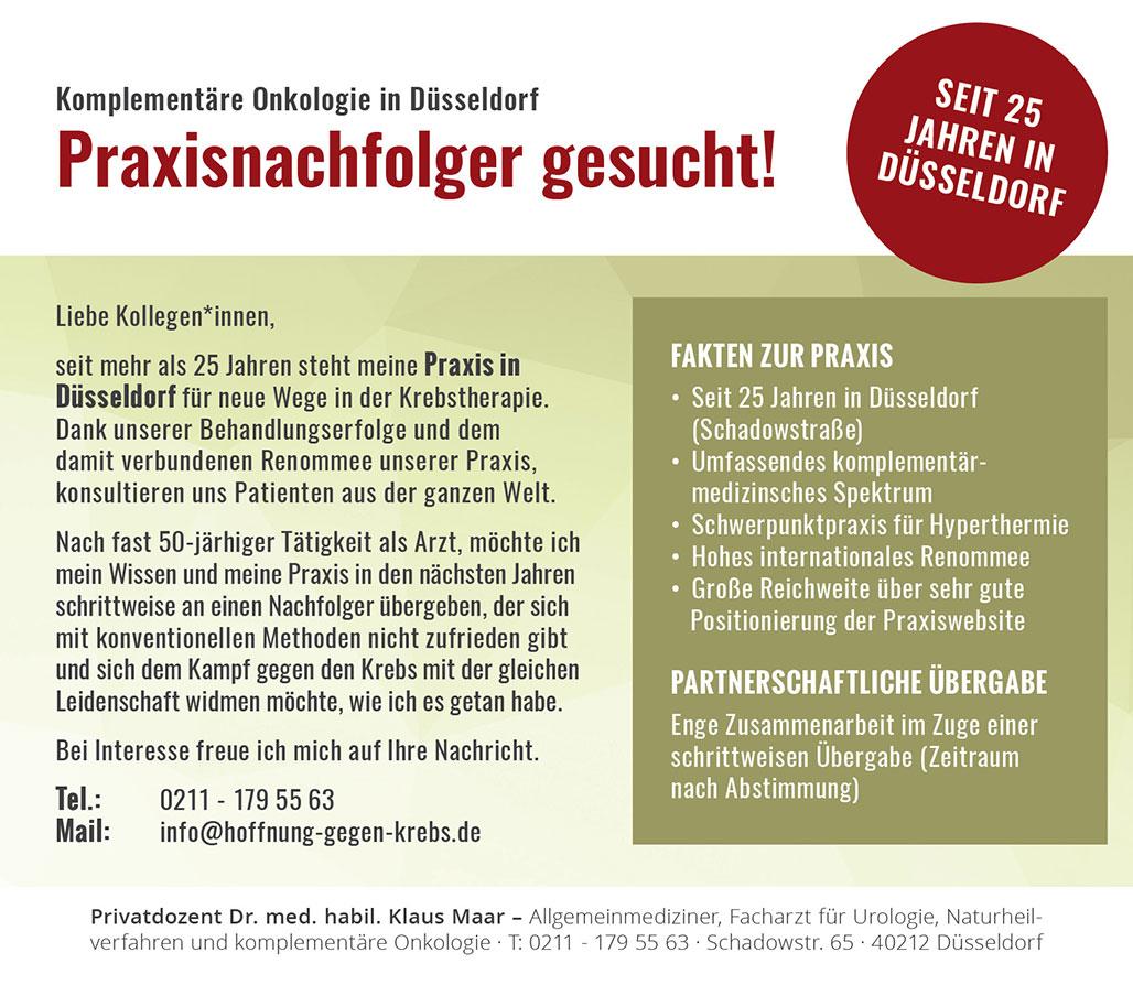 Praxisnachfolger Düsseldorf Onkologie